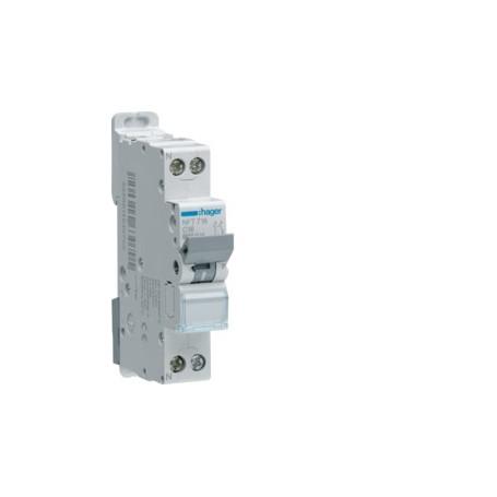 HAGER MJT706 - Disjoncteur, 6A,  P+N, 4.5-6kA