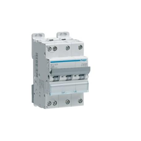 HAGER NFT806 - Disjoncteur, 4x6A, 3P+N, 6-10kA