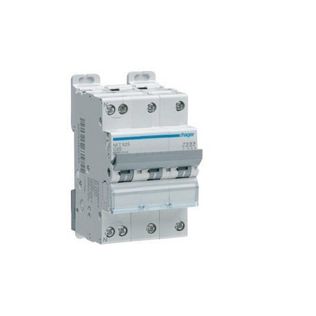 HAGER NFT816 - Disjoncteur, 4x16A, 3P+N, 6-10kA