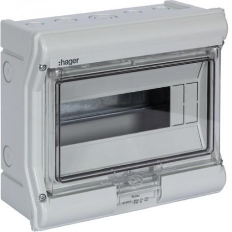 HAGER VE110F - Coffret étanche Vector IP 55 8/10 modules
