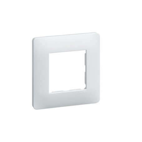 HAGER WE401 - Plaque 1 poste Blanc - Essensya