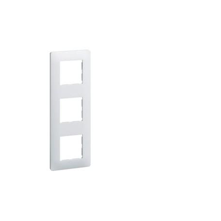 HAGER WE403 - Plaque, 3 postes, Blanc, Essensya