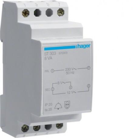 HAGER ST303 - Transformateur de sonnerie 8VA