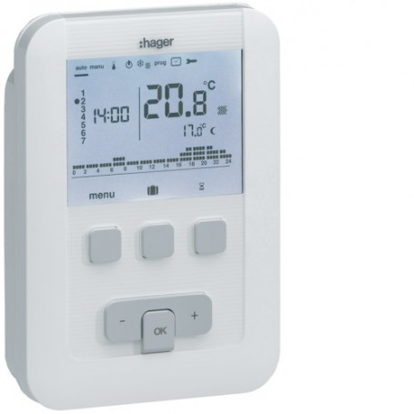 HAGER EK530 - Thermostat ambiance prog. 4 fils