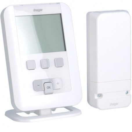 HAGER EK560 - Kit radio thermostat ambiance prog. + récepteur mural