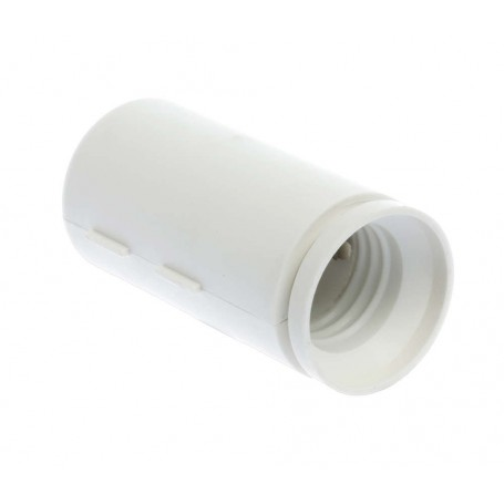 EUROHM 62153 - Douille de chantier, E27, blanche