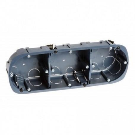 EUROHM 52057 - Boîte triple multi-matériaux prof. 50mm