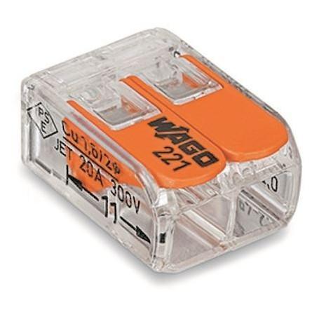 WAGO 221-412 - Mini bornes de connexion avec leviers 2x4mm²