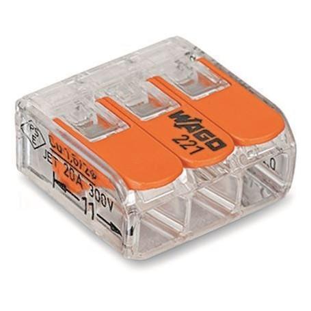 WAGO 221-413 - Mini bornes de connexion avec leviers, 0,5 à 4mm