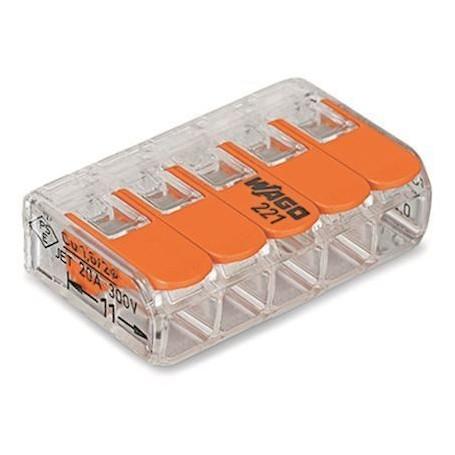 WAGO 221-415 - Mini bornes de connexion avec leviers, 0,5 à 4mm