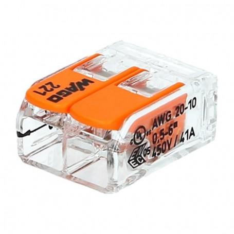 WAGO 221-612 - Mini bornes de connexion avec leviers 2x6mm²