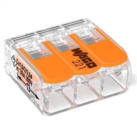 WAGO 221-613 - Mini bornes de connexion avec leviers 3x6mm²
