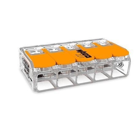 WAGO 221-615 - Mini bornes de connexion avec leviers 0,5 à 6mm²
