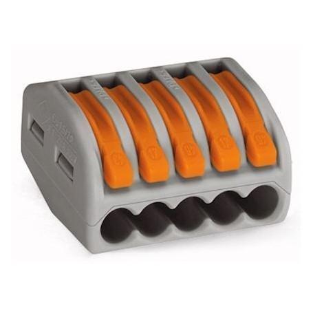 WAGO 222-415 - Bornes de connexion avec leviers 5 x 4mm²