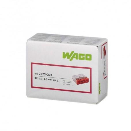WAGO 2273-204 - Bornes de connexion, 4x0,08 à 2,5mm²