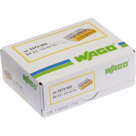WAGO 2273-205 - Bornes de connexion 5x0,5 à 2,5mm²