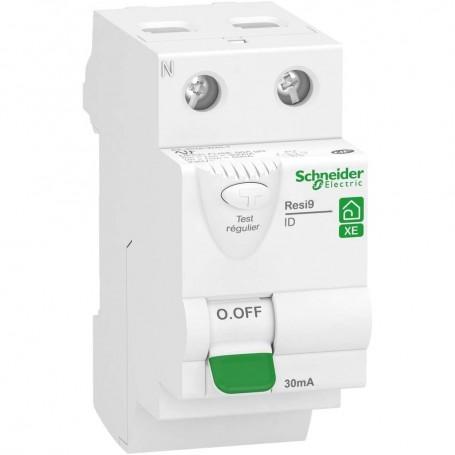 SCHNEIDER R9ERA263 - Interrupteur différentiel, Resi9 XE, 2P, 63A, Type A