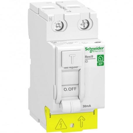 SCHNEIDER R9PRC263 -  Interrupteur différentiel, Resi9, XP, 63A, Type AC