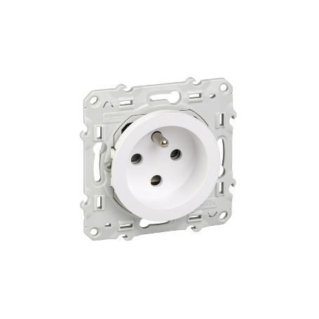 SCHNEIDER S520099 - Prise de courant Blanc, à détrompage,Odace