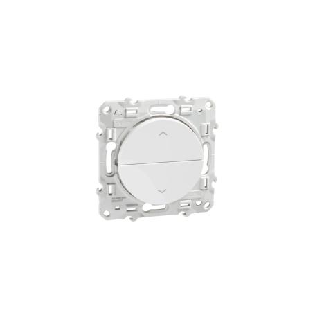 SCHNEIDER S520207 - Poussoir volet-roulant sans STOP, Blanc, Odace