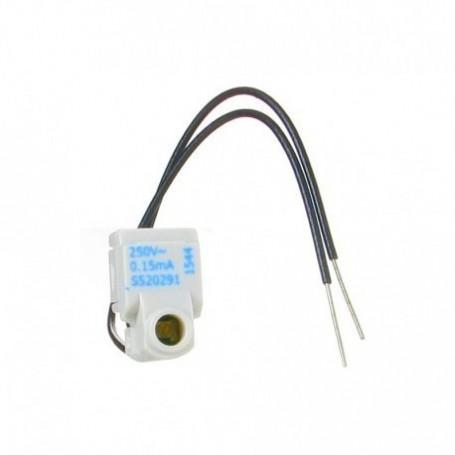 SCHNEIDER S520291 - LED bleu, 0,15mA 250 V, câble, Odace