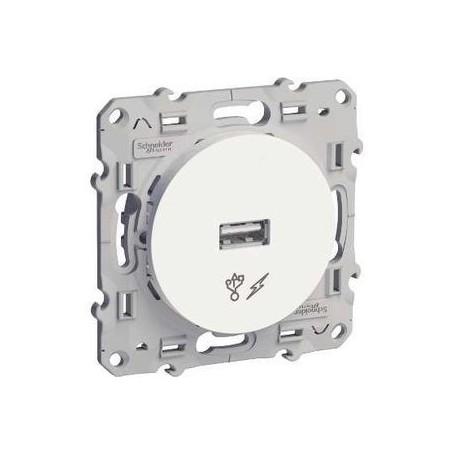 SCHNEIDER S520408 - Prise chargeur USB blanc