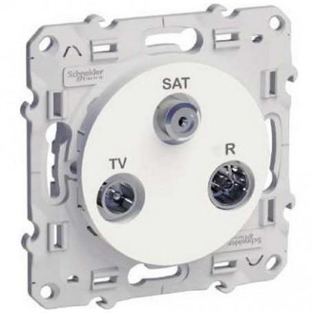 SCHNEIDER S520461 - Prise télévision TV/FM/SAT-1 entrée, Odace
