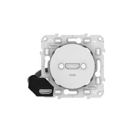 SCHNEIDER S520462 - Prise HDMI blanc, Odace