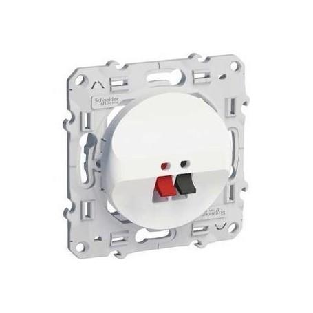 SCHNEIDER S520487 - Prise haut parleur, 1 sortie, Blanc, Odace