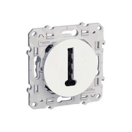 SCHNEIDER S520496 - Conjoncteur en T- 8 contacts blanc, Odace
