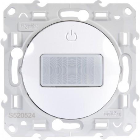 SCHNEIDER S520524 - Détecteur, spécial rénovation 2 fils, Blanc, Odace