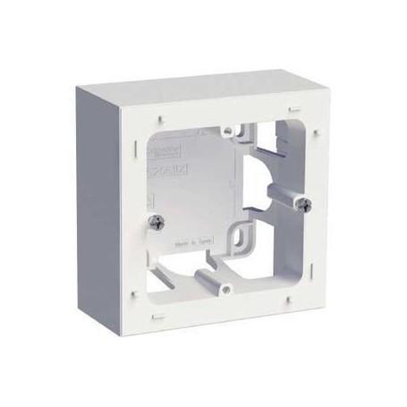 SCHNEIDER S520762 - Boîte montage en saillie 1 poste blanc, Odace