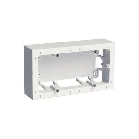 SCHNEIDER S520764 - Boîte montage en saillie 2 poste blanc, Odace