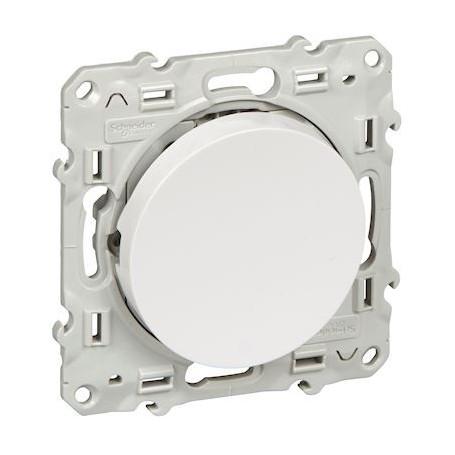 SCHNEIDER S520206 - Poussoir simple blanc 10A