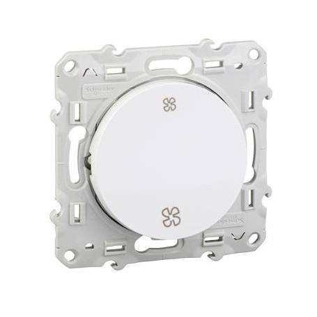 SCHNEIDER S520233 - Interrupteur VMC sans position arrêt, Blanc, Odace