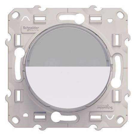 SCHNEIDER S520266 - Bouton poussoir porte étiquette blanc, Odace