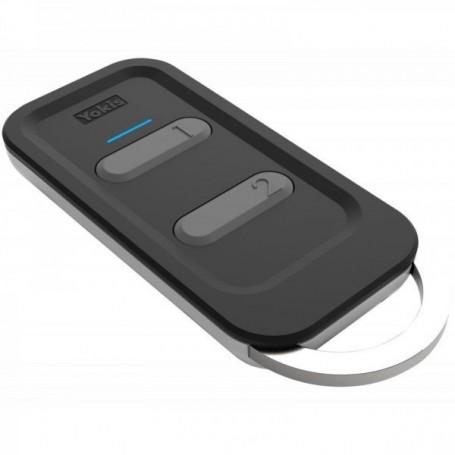 YOKIS TLC2TP - Télécommande porte clé Design 2 touches POWER