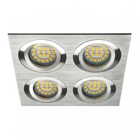 KANLUX 18286 - Spot orientable quadruple alu brossé SEIDY