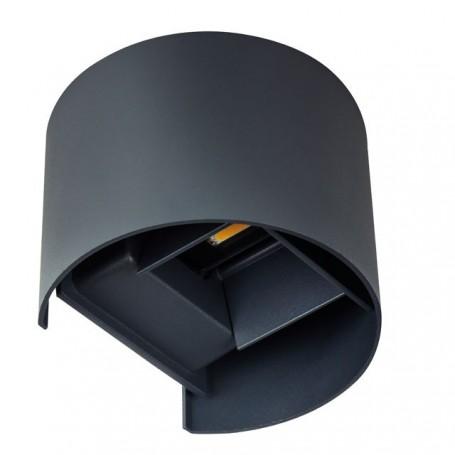 KANLUX 28991 - Luminaire LED pour façade, noir, ovale, REKA