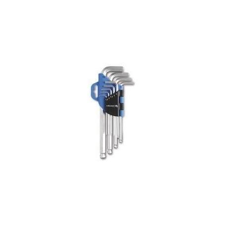 HOGERT HT1W804 - Lot de 9 clés à 6 pans