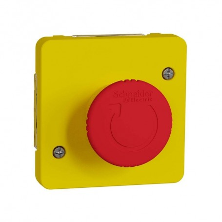 SCHNEIDER MUR35053 - Arrêt d'urgence 1/4 de tour, Mureva, Composable,