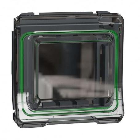 SCHNEIDER MUR35110 - Adaptateur 45x45 Gris, Mureva, Composable, Gris