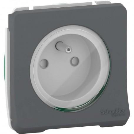 SCHNEIDER MUR36133 - Prise courant, 2P+T, 16A, Mureva, Composable, Gris