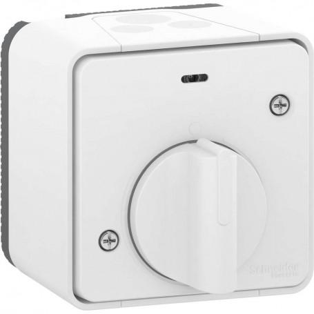 SCHNEIDER MUR39067 - Interrupteur temporisé, LED, Mureva, Saillie, Complet, Blanc