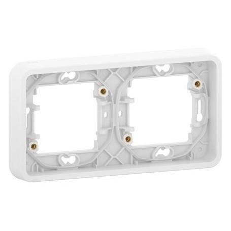 SCHNEIDER MUR39101 - Cadre, 2 postes, horizontal, Mureva, Composable, Blanc