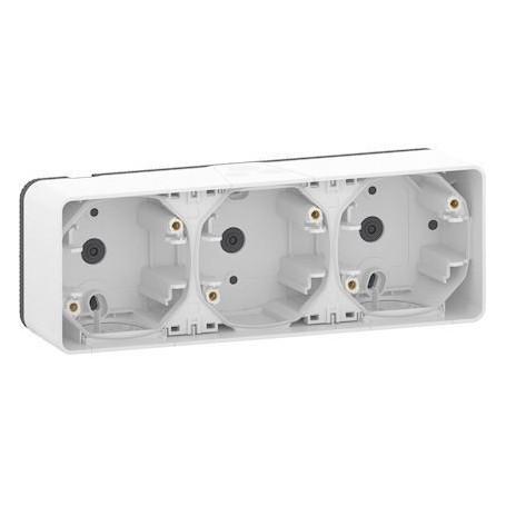 SCHNEIDER MUR39913 - Boîte, 3 postes, horizontale, Mureva, Composable, Blanc