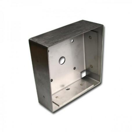 EVICOM TT30/1 - Boîtier, inox, à encastrer, 110 x 110 mm