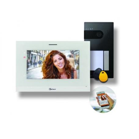 EVICOM GS5110/ART7W - Kit vidéo  SOUL 1BP avec moniteur ART7 WiFi,  5 badges