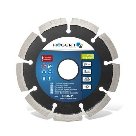 HOGERT HT6D742 - Disque diament pour beton 125mm