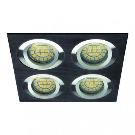 KANLUX 18287 - Spot quadruple orientable, alu brossé, noir, SEIDY